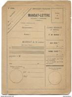 194 - 10 - Mandat-lettre Neuf - Télégraphes Et Téléphones