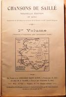 CHANSONS DE SAILLE 1ER VOLUME HARMONISE 1925 44 CHANSONS VOIR SCAN 2 TABLE DES MATIERES - Musica Popolare