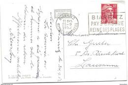 194 - 20 - Carte Envoyée De Biarritz En Suisse 1952 - Briefe U. Dokumente