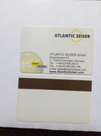 DEMO CARD MAGNETIQUE NO CHIP PAD DE PUCE ATLANTIC ZEISER - Tarjetas De Salones Y Demostraciones
