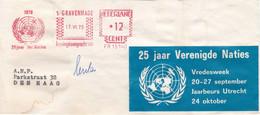 25 Jaar Verenigde Naties - Vredesweek Utrecht 20-27 September 1970 - Briefe U. Dokumente