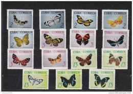 Cuba Nº 881 Al 895 Manchas En La Goma - Neufs