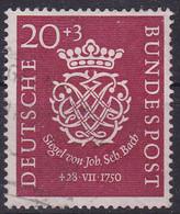 BRD 1950,  122, Used Oo,  Johann Sebastian Bach. - Gebraucht