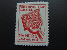 Belle Vignette émise Par Draim Pour L'exposition Philatélique De Mamers De 1938 - Expositions Philatéliques