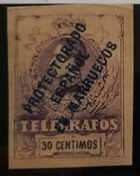 Marruecos Telégrafos N4s - Spanish Morocco