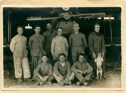 Photo 11x16cm Section Entrainement - Biplan, Pilote Avec Chien, Mécaniciens - Aviation