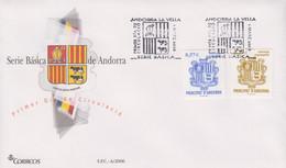 Enveloppe  FDC  1er  Jour   ANDORRE   ANDORRA     Armoiries     2006 - Sin Clasificación