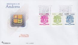 Enveloppe  FDC  1er  Jour   ANDORRE   ANDORRA     Armoiries     2005 - Sin Clasificación