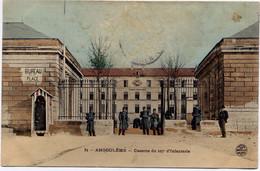 ANGOULEME , Caserne Du 107e D' Infanterie , CPA ANIMEE , 1905 - Angouleme