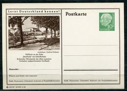 """Germany 1956 GS Mi.Nr.P24/0215 Heuss I Grün""""Lernt Deutschland Kennen--Mülheim,Schloßbrücke Mit Stadthalle""""1 GS Blanco - Postales Ilustrados - Nuevos"""