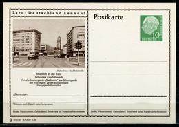 """Germany,Allemagne 1956 GS Mi.Nr.P24/0217 Heuss I Grün """"Lernt  Deutschland Kennen-Mülheim-Stadtmitte,Tram"""" 1 GS Blanco - Postales Ilustrados - Nuevos"""