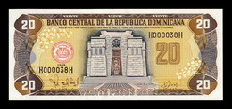 República Dominicana 20 Pesos Oro 1998 Pick 154b Low Serial SC UNC - Dominicana