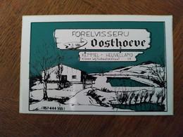 AUTOCOLLANT FORELVISSERU (PÊCHEUR DE TRUITES) OOSTHOEVE – KEMMEL HEUVELLAND KLEINE WIJTSCHAATSESTRAAT – BELGIQUE - PÊCHE - Stickers