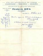 ALGERIE OUED ZENATI ATELIER DE MECANIQUE FRANCOIS ALBA  02/1956 FACTURE FORMAT 27.50 X 21 CM - Other