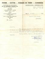 ALGER COMPTOIRS DES PRODUCTEURS ETS TH. COURGEAU OLIVIER ET CIE COMMANDE DE 1955 - Other