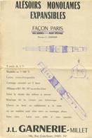 J.L. GARNERIE MILLET RUE CROIX NIVERT PARIS ALESOIRS MONOLAMES EXPANSIBLES - 1950 - ...