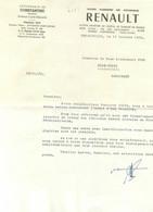 ALGERIE CONSTANTINE COURRIER POUR ACHAT D'UNE DAUPHINE RENAULT  1956 ET ENVELOPPE - 1950 - ...