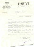 RENAULT SUCCURSALE DE MARSEILLE 1956  POUR VOITURE DAUPHINE - 1950 - ...