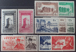 R2452/97 - 1949 - FEZZAN - OCCUPATION FR. - SERIE COMPLETE - N°43 à 53 NEUFS* - Neufs