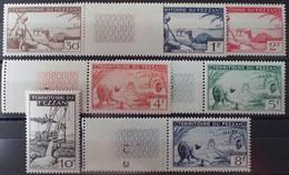 R2452/99 - 1951 - FEZZAN - OCCUPATION FR. - SERIE COMPLETE - N°56 à 67 NEUFS** BdF (1t NEUF*) - Cote (2020) : 55,50 € - Neufs
