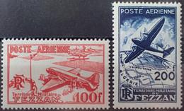 R2452/100 - 1948 - FEZZAN - OCCUPATION FR. - POSTE AERIENNE - N°4 à 5 NEUFS* - Neufs