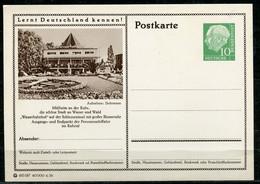 """Germany,Allemagne 1956 GS Mi.Nr.P24/0218 Heuss I Grün """"Lernt  Deutschland Kennen-Mülheim-Wasserbahnhof """" 1 GS Blanco - Postales Ilustrados - Nuevos"""