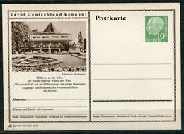 """Germany,Allemagne 1956 GS Mi.Nr.P24/0156 Heuss I Grün """"Lernt  Deutschland Kennen-Mülheim-Wasserbahnhof """" 1 GS Blanco - Postales Ilustrados - Nuevos"""