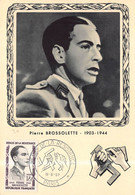 """ HEROS DE LA RESISTANCE "" 5 Enveloppes Premier Jour FDC ( Jean Moulin , P. Brossolette , R . Keller , J.B Lebas , ORVES - 1990-1999"