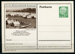 """Germany,Allemagne 1956 GS Mi.Nr.P24/0214 Heuss I Grün """"Lernt  Deutschland Kennen-Mülheim-Ruhrtal,Zeltplatz"""" 1 GS Blanco - Postales Ilustrados - Nuevos"""