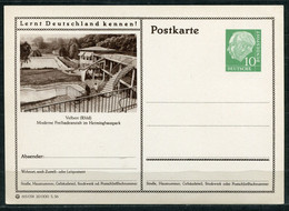 """Germany,Allemagne 1956 GS Mi.Nr.P24/0211 Heuss I Grün """"Lernt  Deutschland Kennen-Mülheim-Velbert,Freibad"""" 1 GS Blanco - Postales Ilustrados - Nuevos"""