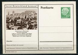 """Germany,Allemagne 1956 GS Mi.Nr.P24/0208 Heuss I Grün """"Lernt  Deutschland Kennen-Hachenburg,Westerwald """" 1 GS Blanco - Postales Ilustrados - Nuevos"""