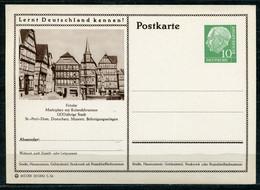 """Germany,Allemagne 1956 GS Mi.Nr.P24/0207 Heuss I Grün """"Lernt  Deutschland Kennen-Fritzlar,Marktplatz """" 1 GS Blanco - Postales Ilustrados - Nuevos"""