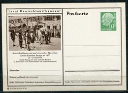 """Germany,Allemagne 1956 GS Mi.Nr.P24/0209 Heuss I Grün """"Lernt  Deutschland Kennen-Kaufbeuren,Tänzelfest """" 1 GS Blanco - Postales Ilustrados - Nuevos"""