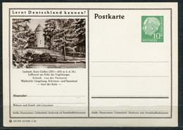 """Germany,Allemagne 1956 GS Mi.Nr.P24/0210 Heuss I Grün """"Lernt  Deutschland Kennen-Laubach,Schloß """" 1 GS Blanco - Postales Ilustrados - Nuevos"""
