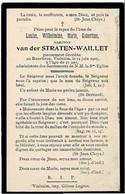 RENCHEUX / VIELSALM -  Louise Baronne  Van Der STRATEN-WAILLET - Décédée 1907 - Andachtsbilder