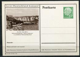 """Germany,Allemagne 1956 GS Mi.Nr.P24/0206 Heuss I Grün """"Lernt  Deutschland Kennen-Balve,Kalksteinfelsen  """" 1 GS Blanco - Postales Ilustrados - Nuevos"""
