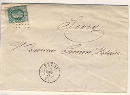 N° 30 Sur Lettre Oblitération à Points  EST IV 1871 Très Propre - 1869-1883 Léopold II