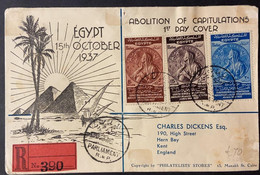 O) 1937 EGYPT, ABOLITION OF CAPITULATIONS, MEDAL FOR MONTREUX, INT. TREATY SIGNED AT MONTREUX SWITZERLAND UNDER WHICH F - Briefe U. Dokumente