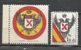 9336M-SELLOS VIÑETAS ESPAÑA GUERRA CIVIL MILITARIA CARLISTAS,REQUETES,NUEVOS MNH ** TOLOSA.SPAIN CIVIL WAR ,ESPAGNE - Unclassified