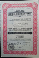Chemin De Fer VICINAUX Du CONGO - Ferrocarril & Tranvías