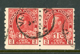 Canada USED 1916  Coil Stamp- Rare Pair - Oblitérés