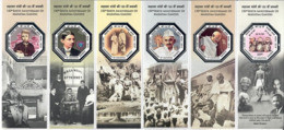 INDIA 2019 Mahatma Gandhi , Octagonal Shaped Odd + Silver Foiling , Peace, Mandela , Ho Chi Minh (**) Inde Indien - Nuevos