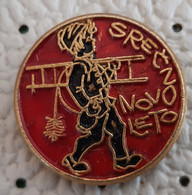 Chimney Sweepers Happy New Year Slovenia Ex Yugoslavia Pin - Natale