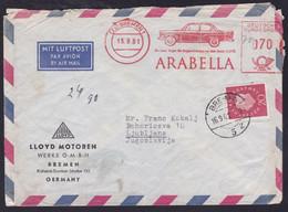 Germany, 1961, Car, Arabella Cancellation, Mailed (tear Right) - Automobili