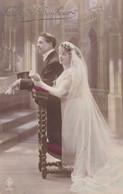 Carte Photo Couple De Mariés, Wedding Couple, Pair, Voeux De Bonheur (pk77841) - Marriages