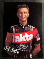 Morten Sonne - Fakta - 2001 - Carte / Card - Cyclists - Cyclisme - Ciclismo -wielrennen - Radsport