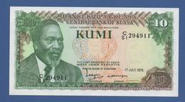 KENYA - P.16a – 10 SHILINGI - SHILLINGS 1978 -  UNC - Kenia