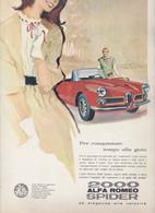 (pagine-pages)PUBBLICITA' ALFA ROMEO 2000 SPIDER    L'europeo1961/813. - Altri