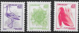 Uruguay 1976  Mi.No. 1416 - 18 Birds Southern Lapwing Plants Flowers 3v MNH** 0,90 € - Otros - América