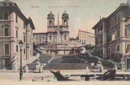 ROMA-SCALINATA DELLA TRINITÀ DEI MONTI-CARTOLINA VIAGGIATA IL 2-8-1904 - Other Monuments & Buildings